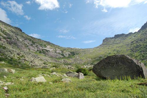 Вид на перевал Туманный. Ергаки