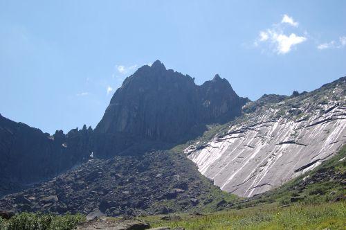 Вид на перевал Птица. Ергаки